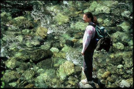 Reflecting at river rocks